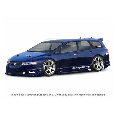 HPI 1/10 Honda Odyssey Clear Body Shell & Decals 200mm Touring RC Car HPI 7497