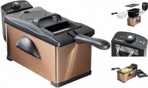 Bestron automatique Huile-Friteuse avec kühlzone 3,5 L Métal Cuivre//Noir