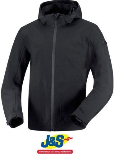 IXS Dublin Textile Motorcycle Jacket Motorbike Soft Shell Hood Coat Black J&S