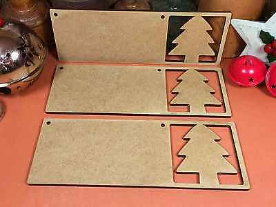 WOODEN MDF MERRY CHRISTMAS /'A/' SIGN x3 christmas wood shape decoration xmas
