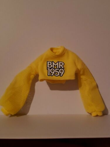 NEW 2019 YELLOW BMR 1959 CROP TOP SWEATSHIRT FOR Barbie doll