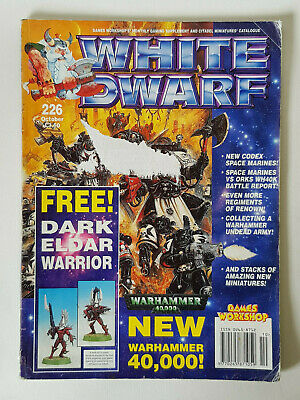 #226 White Dwarf Magazine Games Workshop Cittadella Miniature Vintage 1980/90s- Forte Resistenza Al Calore E All'Usura Dura