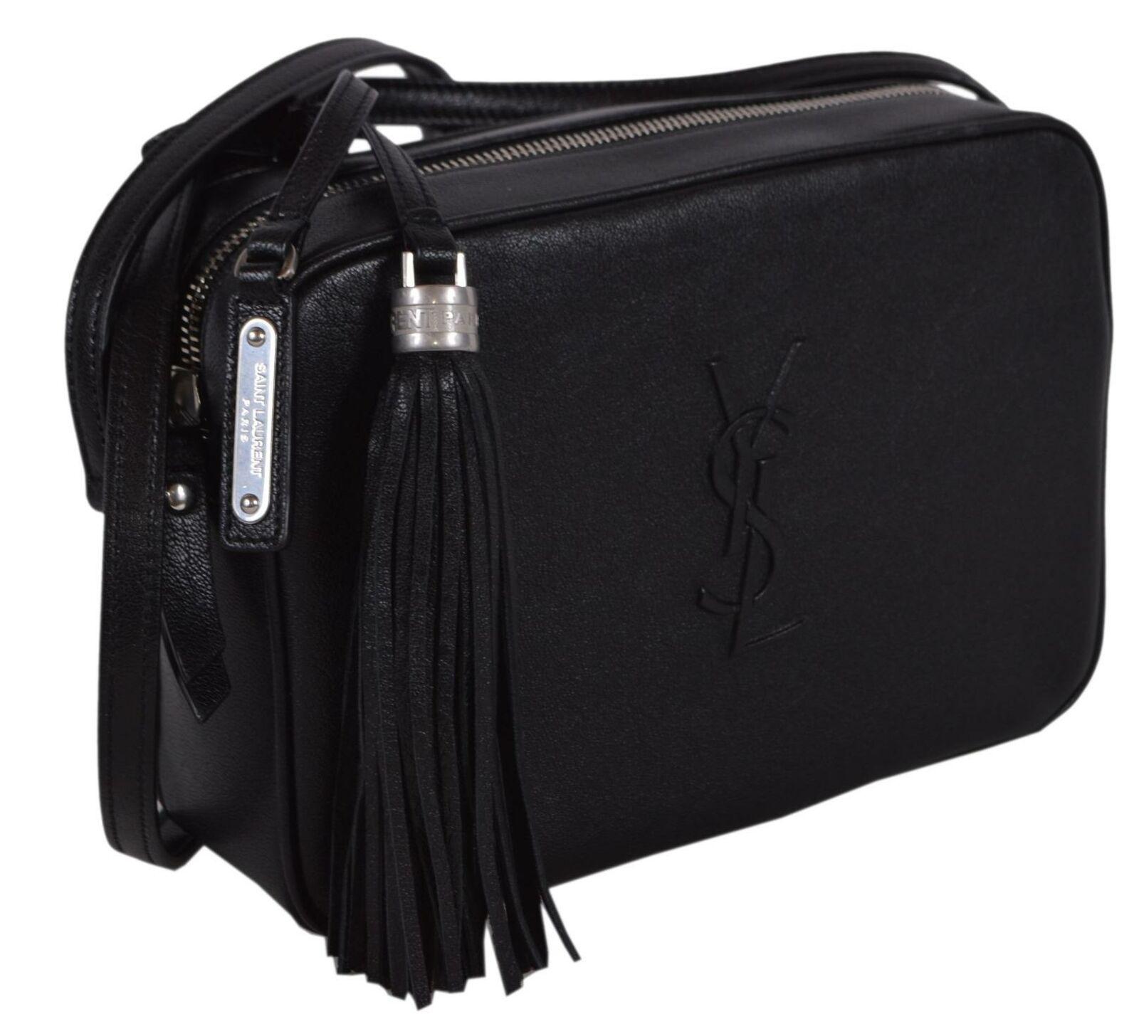 Saint Laurent Ysl Monogram Lou Camera Tassel Crossbody Shoulder Bag Black Tulip For Sale Online Ebay