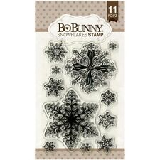 New Bo Bunny Clear Stamps Winter Snowflakes Stamps