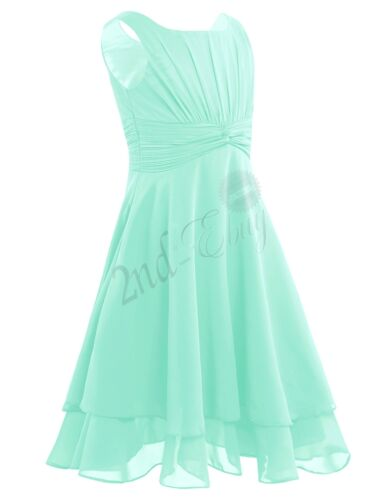 Kid Chiffon Dress Girls Flower Party Formal Wedding Bridesmaid Pageant Prom Gown