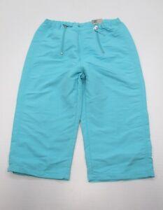 NIKE-Athletic-Pants-Women-039-s-Size-S-Zip-Front-Lightweight-Blue-Twill-Capri
