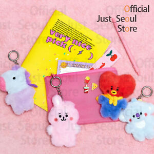 Official-BTS-BT21-Flat-Fur-Bagcharm-Plush-Doll-Freebie-Tracking-100-Authentic