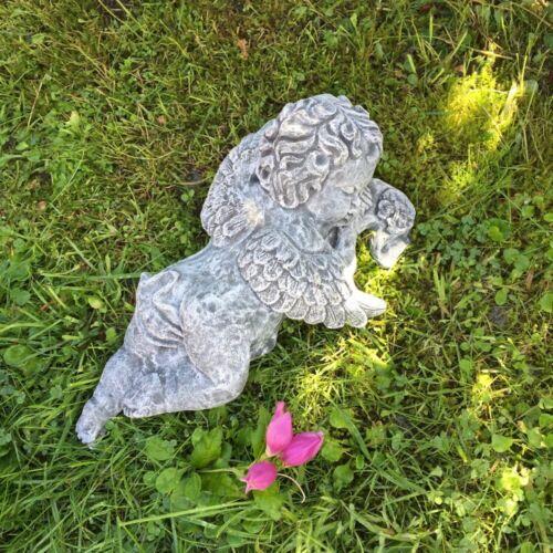 Tiergrab Engelfiguren Friedhof Liegender Engel Figur für Grab Dekoration