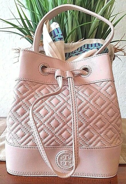 1ac681cdf51 Tory Burch Marion Quilted Mini Bucket Bag Leather Light Oak 31159728 ...