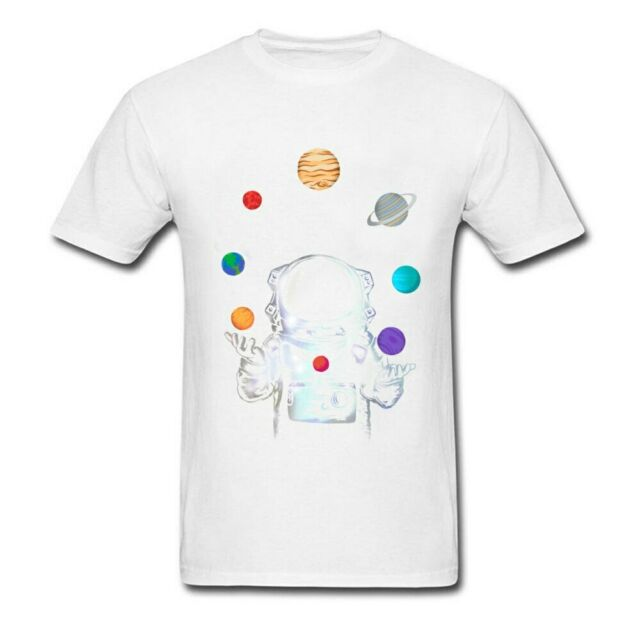 Space Circus Tshirt Men Crazy T Shirt Astronaut Tops & Tees