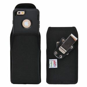 Turtleback-iPhone-6-Vertical-Nylon-Pouch-Holster-Metal-Clip-Fits-Lifeproof-Case