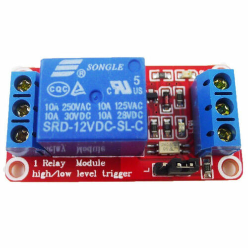 1-Channel Relay Module with Optocoupler H//L Level Trigger 12V 10A for Arduino