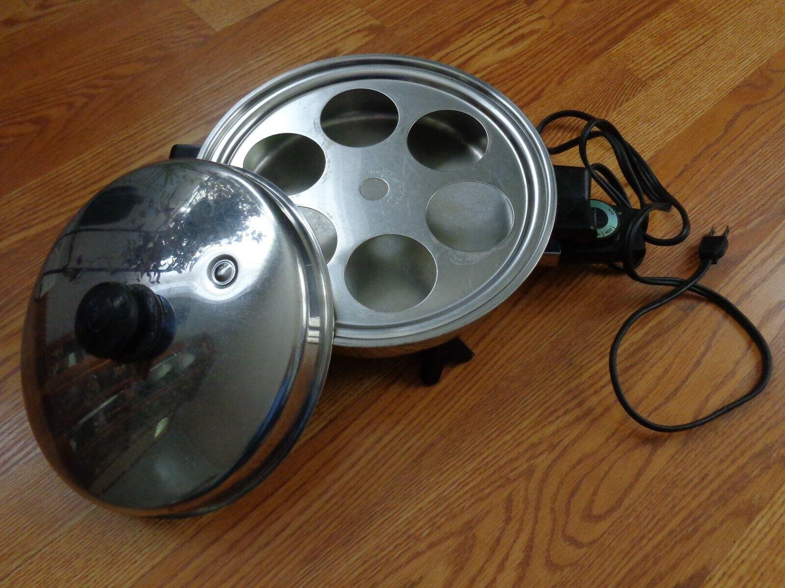 Saladmaster électrique Poêle 7817 Fry Pan 11  huile Core Waterless Cookware Couvercle