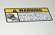 Honda K Series Warning Sticker Decal  K20 K24 K26 Civic Integra Accord Type R