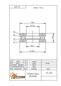 Utile Axial Pression Camp F 4-9 M 4x9x4 Mm Inversion Ball Bearing F4-9m-afficher Le Titre D'origine
