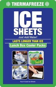 BUY 4 GET 1 FREE~ThermaFreeze~Small Cooler Pack~4 Reusable 4x3 cell Ice Sheets