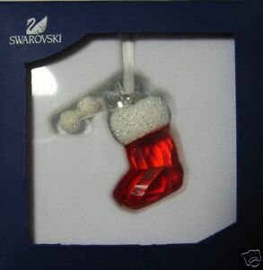 SWAROVSKI-CHRISTMAS-2008-SANTA-039-S-STOCKING-944872-MINT-IN-BOX