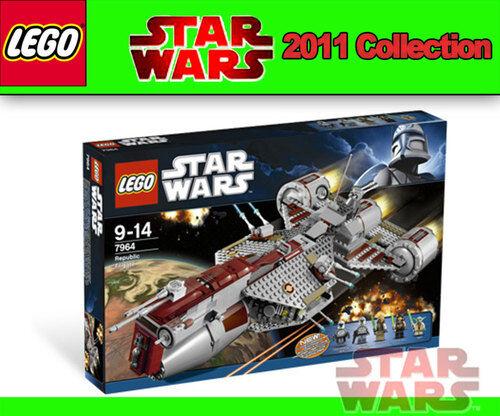 Lego Star Wars 7964 Republic frigate ™ Yoda, Eeth Koth, Quinlan Vos Clone Trooper