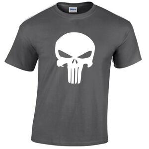 FidèLe Kids Punisher T Shirt Crâne Squelette De Super-héros Deadpool Geek Enfant-afficher Le Titre D'origine