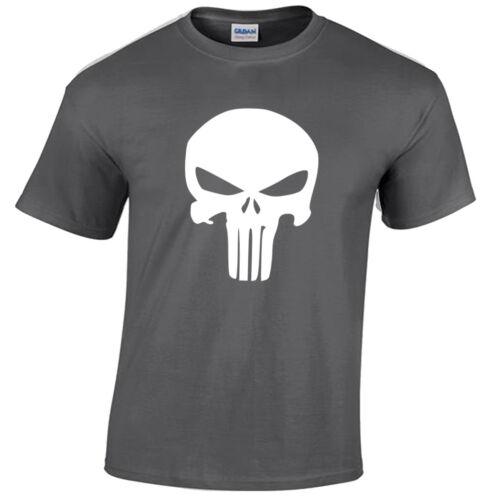 Camiseta Infantil Punisher Caveira Esqueleto Super-heróis Deadpool Geek Childrens