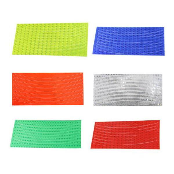 Fluorescent MTB Bike Wheel Rim Reflective Stickers Decal 6 Colors Multicolor
