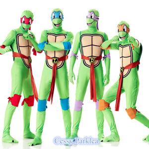 bc2ed294742 Details about R1 Mens Teenage Mutant Ninja Turtles Costume TMNT Superhero  2nd Skin Suits