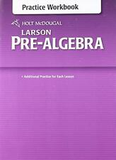 Holt McDougal Larson Pre-Algebra: Common Core Practice Workbook