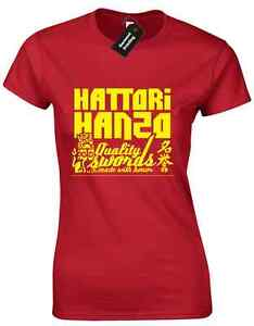 HATTORI HANZO LADIES T SHIRT KILL BILL PULP FICTION SAMURAI SWORD JAPAN QUENTIN