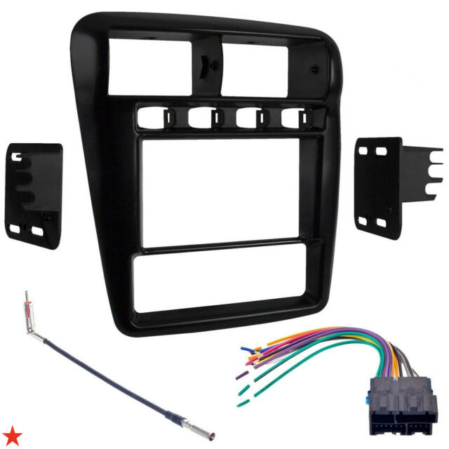 DOUBLE 2 DIN CAR STEREO RECEIVER DASH INSTAL BEZEL TRIM KIT FOR CAMARO 1997-2002