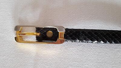 70er Jahre Stretch-Gürtel Gürtel S L Schwarz Gold Taillengürtel Schmetterling