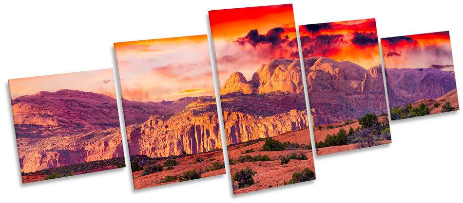 Sunset utah arches national park multi toile murale art box cadre imprimé