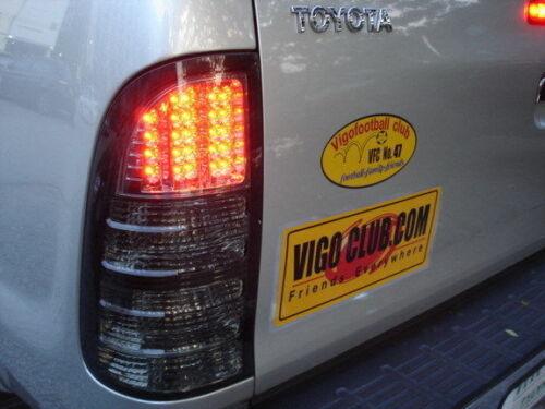 LED REAR TAIL LIGHT LAMP SMOKE BLACK LENS TOYOTA HILUX VIGO SR5 MK6 UTE 05-11