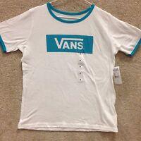 Vans Girls T-shirt v-tangle''--white/ca
