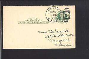 CIMARRON-NEW-MEXICO-1948-GOVERNMENT-POSTAL-CARD-COLFAX-CO-1861-OP