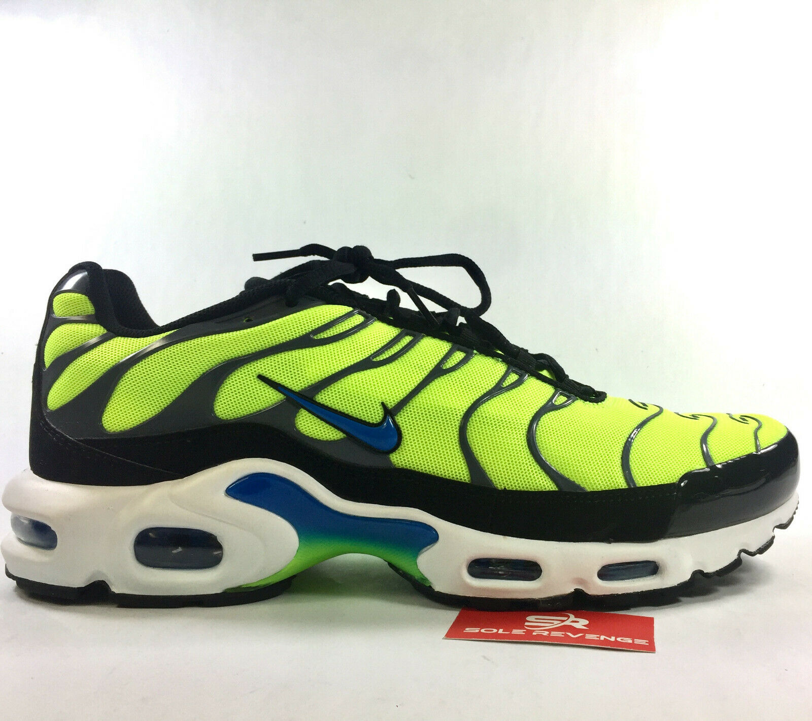 promo code 55cf4 68f29 New NIKE AIR MAX PLUS TN 52630700 Volt/Photo Blue/Black/Dark Grey Tuned Air  c1