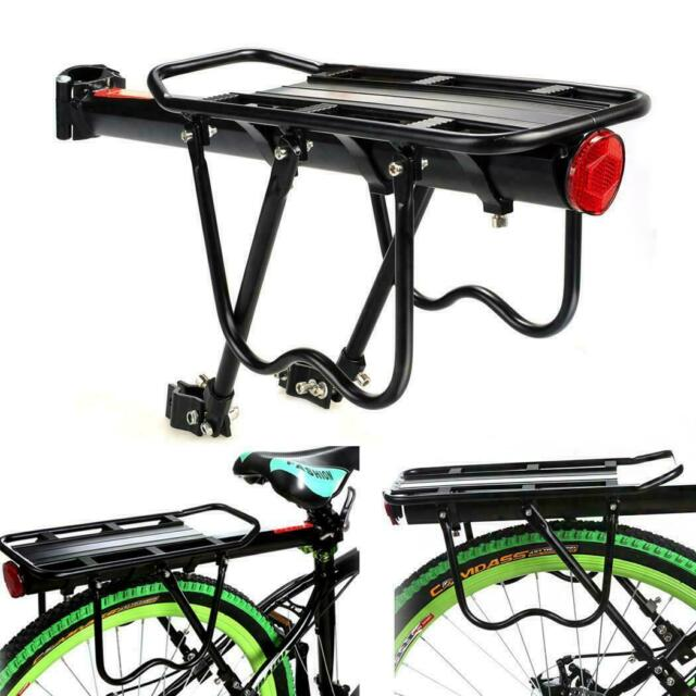 Back Rear Rack Alloy Bike Bicycle Seat Post Frame Carrier Holder Cargo Racks US