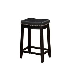 Brilliant Details About Black Cushioned Counter Stool Claridge 26 In Height Kitchen Chair Backless Wood Ocoug Best Dining Table And Chair Ideas Images Ocougorg