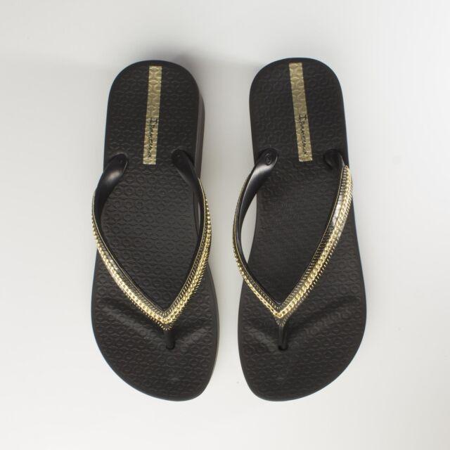 8a6f4ef1e Ipanema MESH WEDGE Womens Ladies Summer Beach Toe Post Sandals Flip Flops  Black