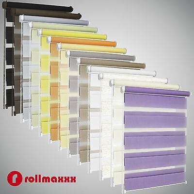 Duo-Rollos Doppelrollos mit Kettenzugbedienung Klemmfix ohne Bohren