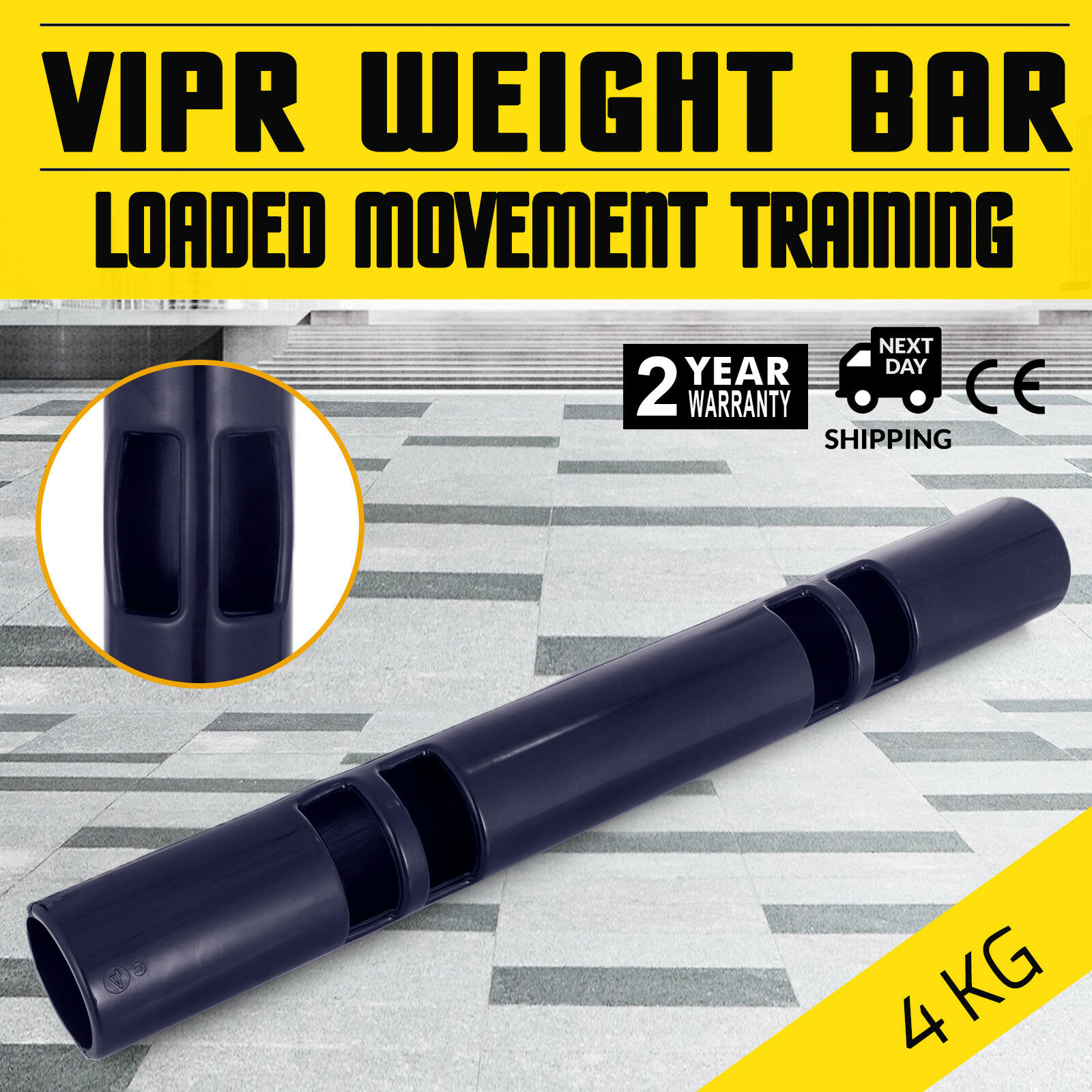 ViPR Fitness  Tube 4kg (8.5lbs) Viper bluee Rubber Exercise  good quality