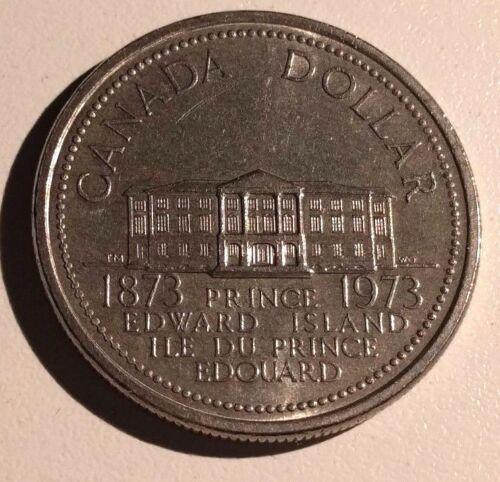 WOW!! 1873 1973 Canada Nickel One Dollar PEI Canadian $1 Circulated