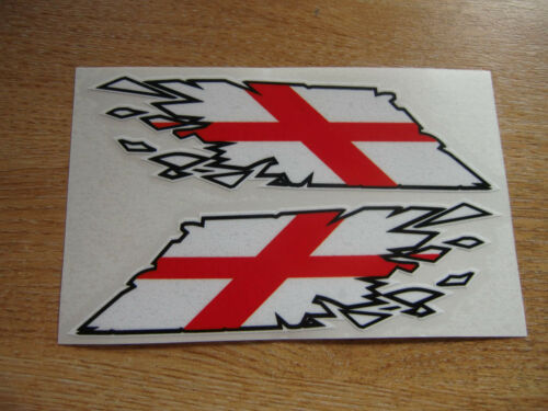 "English George Cross Flag /""ripped/"" style stickers 300mm decals x2  LARGE"