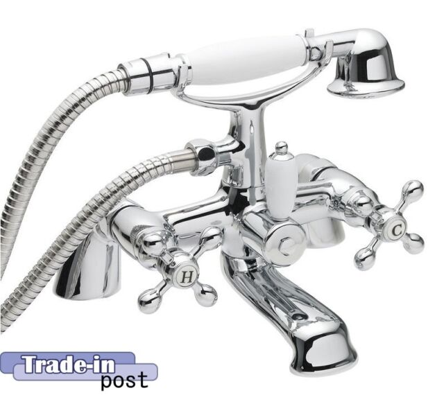 TRADITIONAL BATH SHOWER MIXER TAP LOW PRESSURE ULTRA VISCOUNT RANGE - BRAND NEW