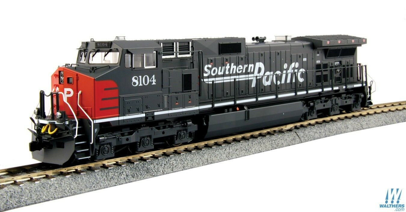 Escala HO Kato 37-6630 Southern Pacific C44-9W  8104 con zanja Luces Dcc Listo