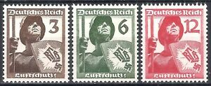 DR-Nazi-Reich-Rare-WW2-Stamp-1937-Air-Defence-Shield-Warrior-with-Swastika-Eagle