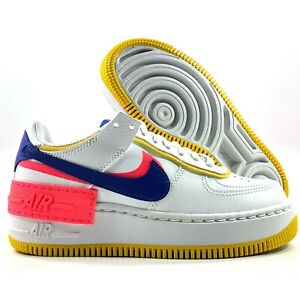 Nike W Af1 Shadow Air Force 1 Summit White Blue Yellow Ci0919 105 Women S 5 Ebay Shadow pieces for a unique play on a classic. details about nike w af1 shadow air force 1 summit white blue yellow ci0919 105 women s 5