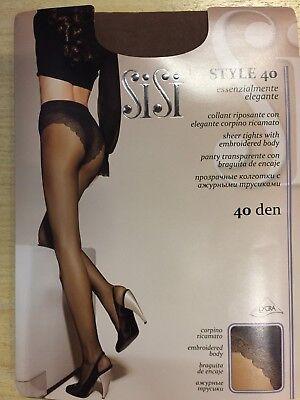 Collant Sisi Style 40 Den Calza Donna Con Corpino Ricamato 5 Paia Promozione Sex Medulla Benefico A Essenziale