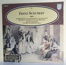 "33T Franz SCHUBERT Disque LP 12"" IMPROMPTUS I. HAEBLER Piano MUSIQUE ALPHA N° 10"