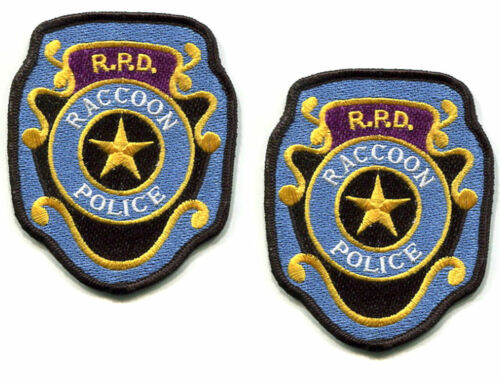 RESIDENT EVIL ZOMBIE OUTBREAK RACCOON CITY POLICE DEPARTMENT RPD vel©®Ø BDG X 2