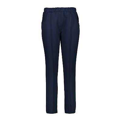 Cmp Sweathose Pantaloni Woman Long Pant Blu Scuro Elastici Tinta Stretch-mostra Il Titolo Originale